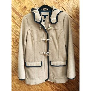 Tommy Hilfiger Toggle Wool Hooded Coat Camel
